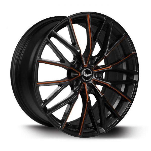BARRACUDA PROJECT 3.0 Black gloss Flashorange Felge 8,5x18 - 18 Zoll 5x112 Lochkreis