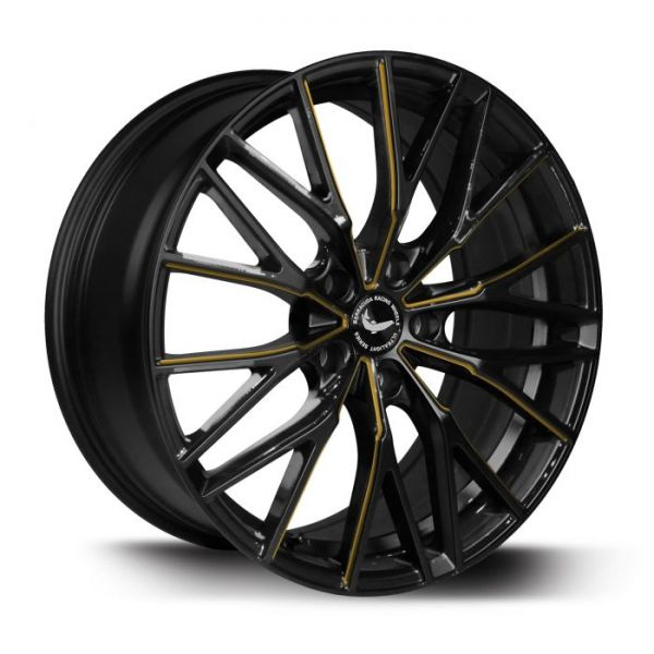 BARRACUDA PROJECT 3.0 Black gloss Flashgold Felge 8,5x18 - 18 Zoll 5x108 Lochkreis