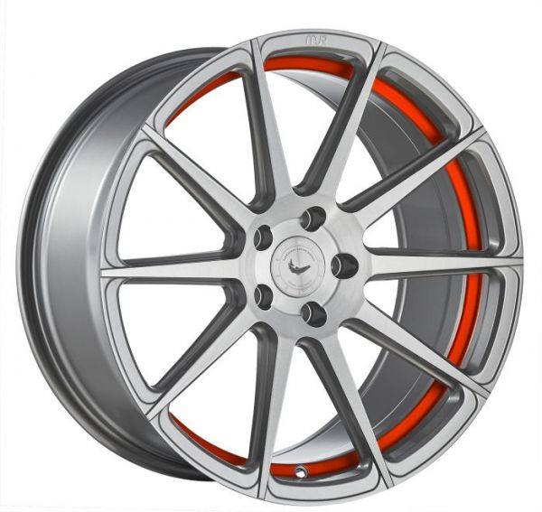 BARRACUDA PROJECT 2.0 silver brushed/ undercut Color Trim rot Felge 9x20 - 20 Zoll 5x112 Lochkreis