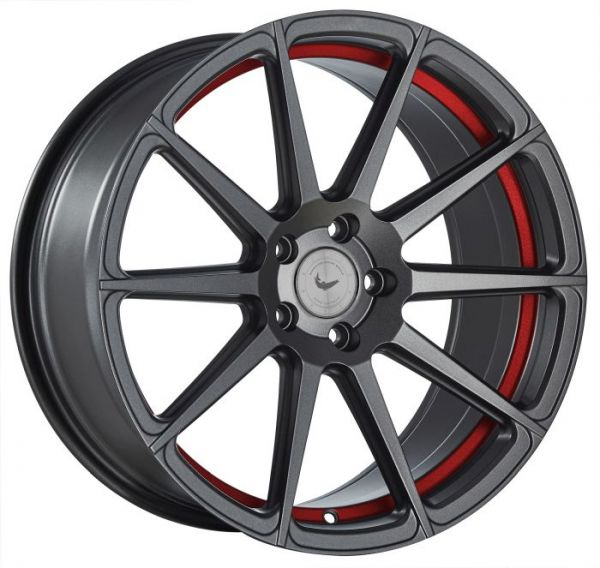 BARRACUDA PROJECT 2.0 Mattgunmetal/ undercut Colour Trim rot Felge 10,5x20 - 20 Zoll 5x108 Lochkreis