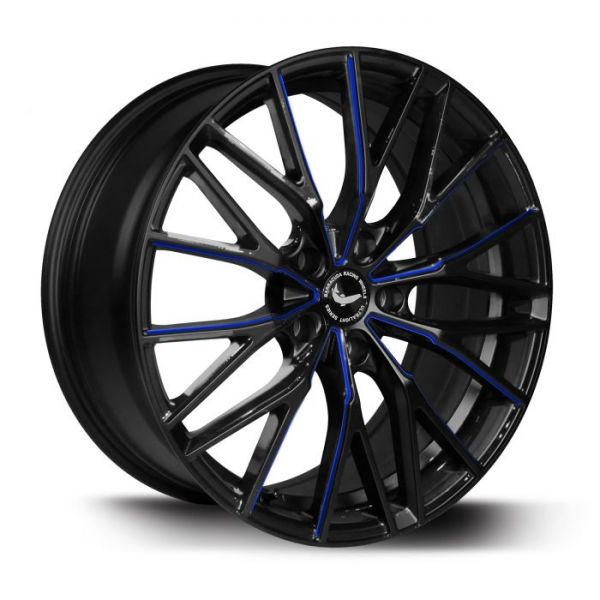 BARRACUDA PROJECT 3.0 Black gloss Flashblue Felge 8,5x20 - 20 Zoll 5x114,3 Lochkreis