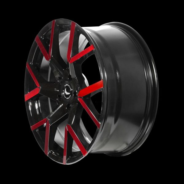 BARRACUDA TZUNAMEE EVO Black gloss Flashred Felge 8x18 - 18 Zoll 5x108 Lochkreis